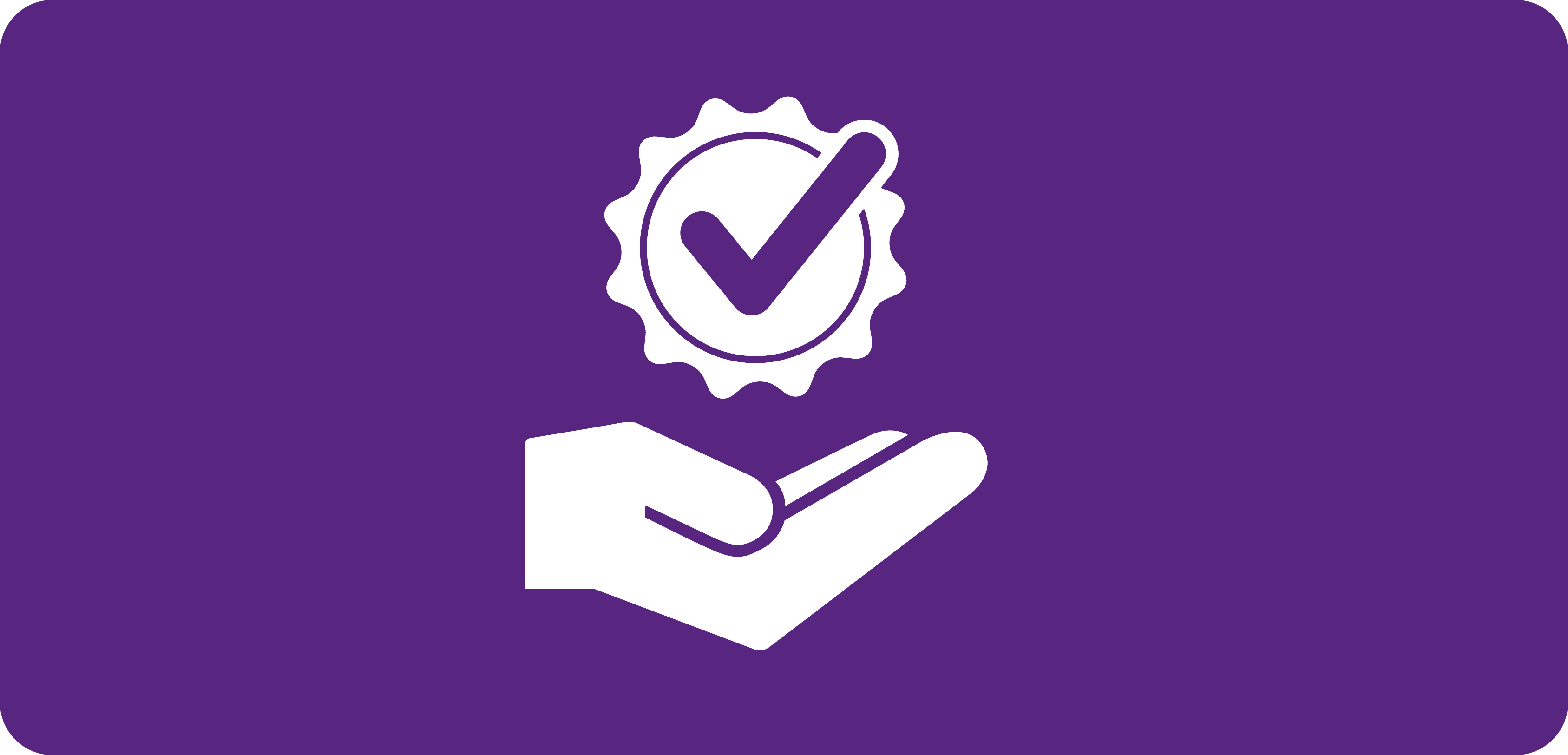 White award icon on purple background