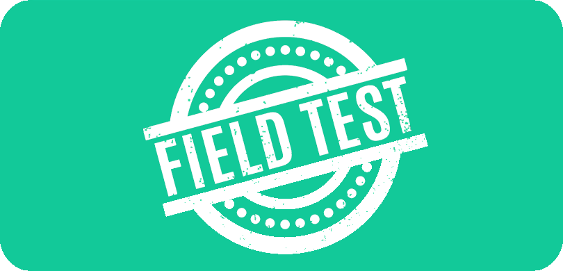 Field Test on green background