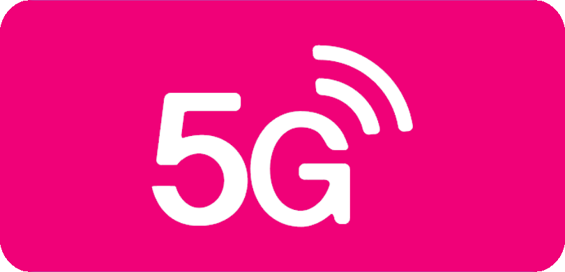 5G on white background