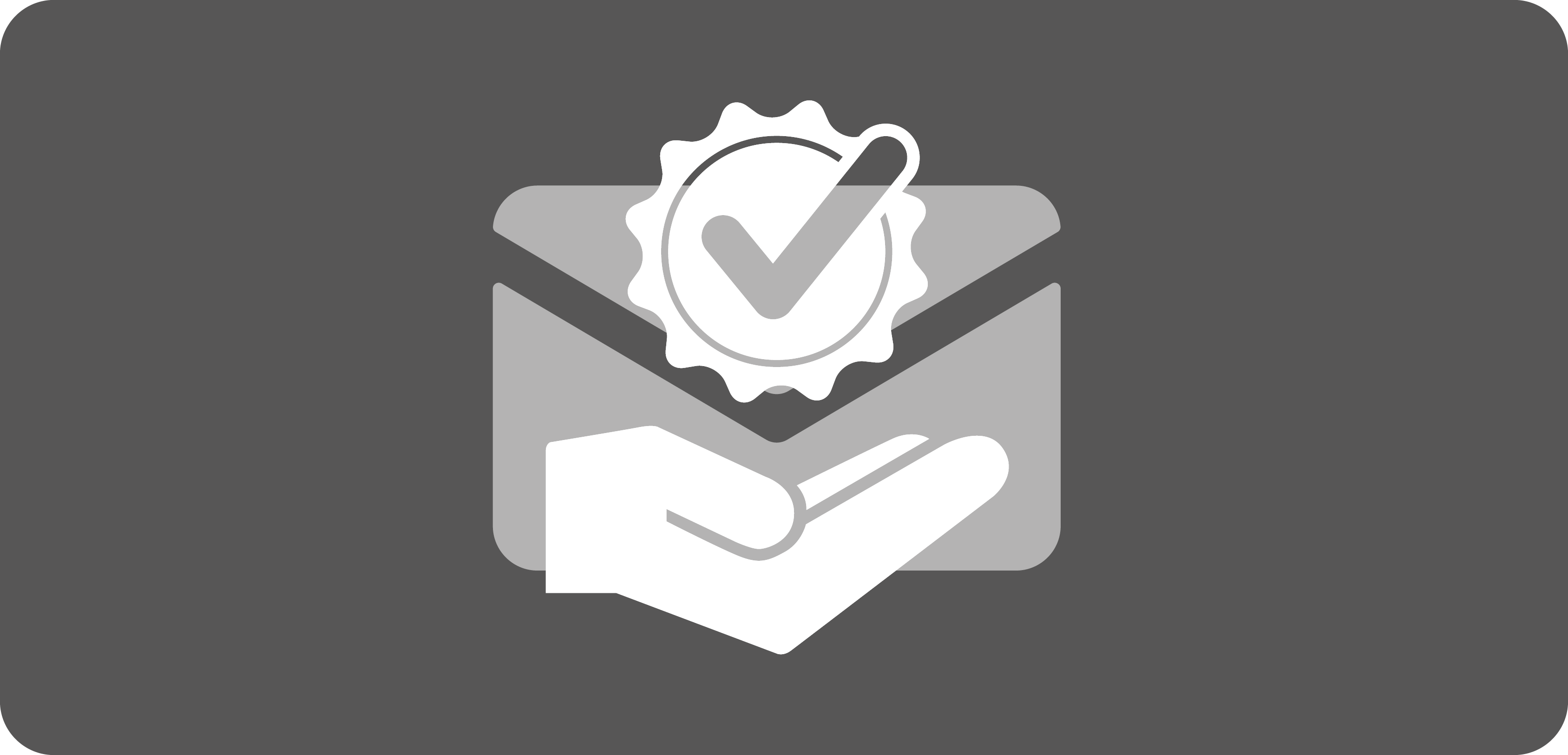 White award icon on grey background